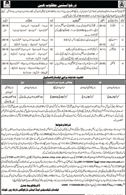 Excise Taxation & Narcotics Control Department - Quetta