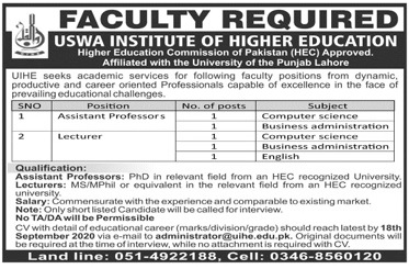 USWA Institute Of Higher Education