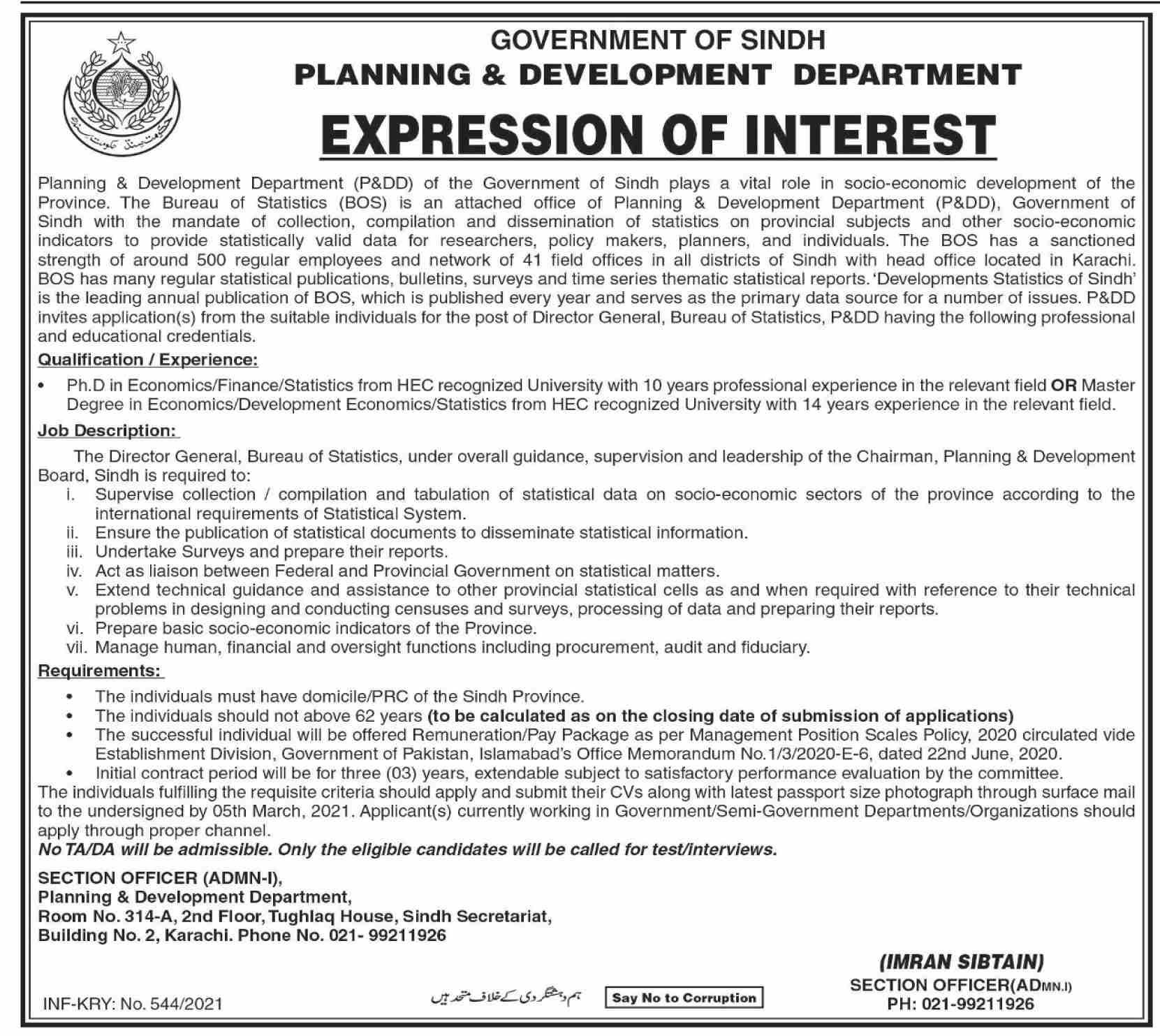 Planning & Development Department - Karachi