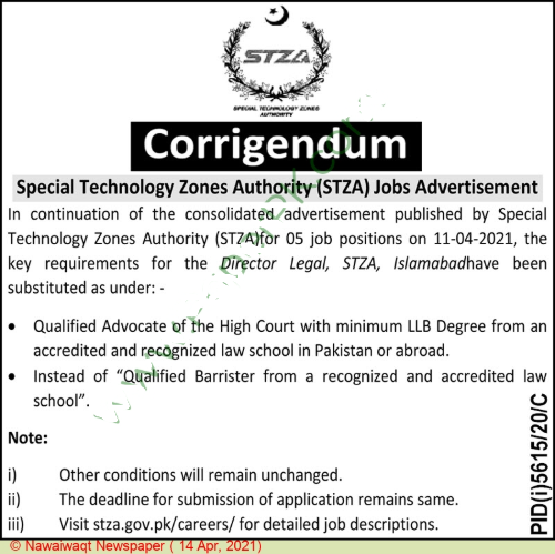 Special Technology Zones Authority - Islamabad
